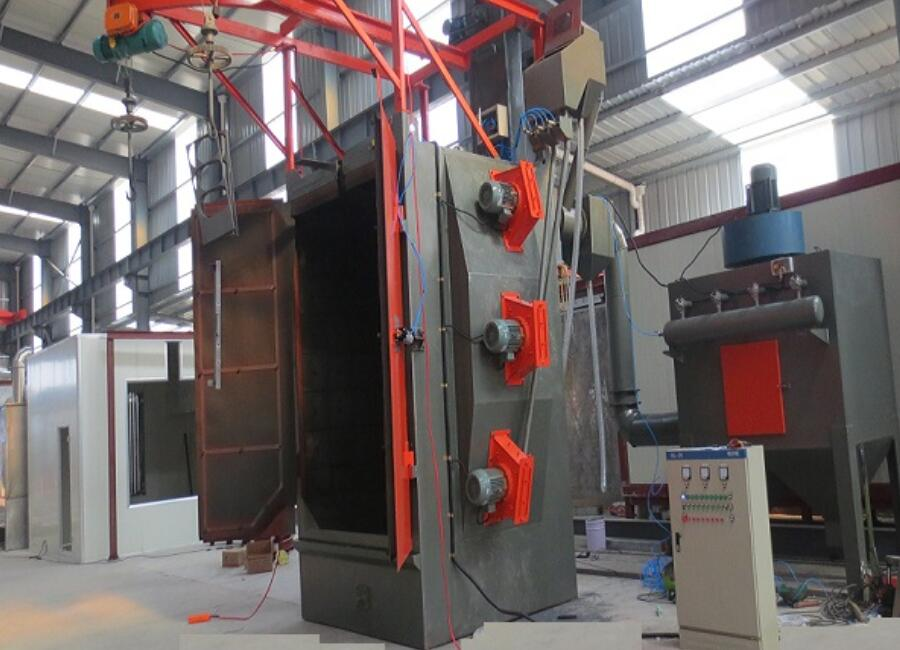 Steel casting cleaning hook continusous shot blasting machine