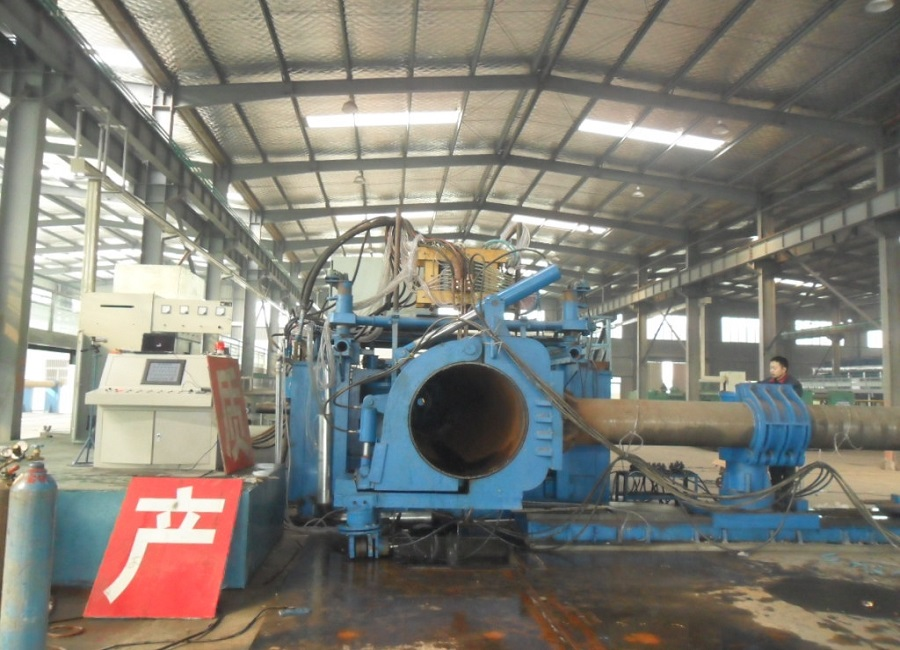 hydraulic system and induct system bends machines