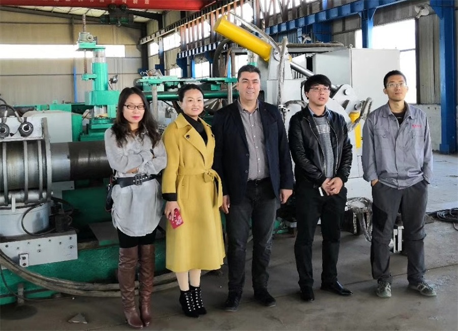 Welcome Turkey Clients Visit Our Factory For Bending Machine and Pipe-Expanding Machine